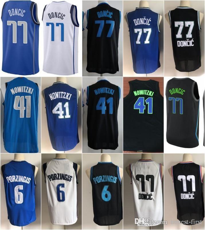 best authentic c90c4 e9d33 New The city Dallas Luka 77 Doncic Jersey Mavericks Kristaps 6 Porzingis  Dirk 41 Nowitzki Embroidery Logos All Men Star Basketball Jerseys