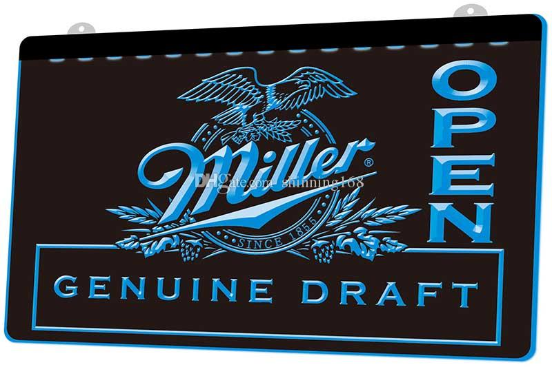 LS1206-b-Miller-Draft-Beer-ABIERTO-Bar-neón-Light-sign.jpg decoración Dropshipping de envío libre al por mayor 8 colores para elegir