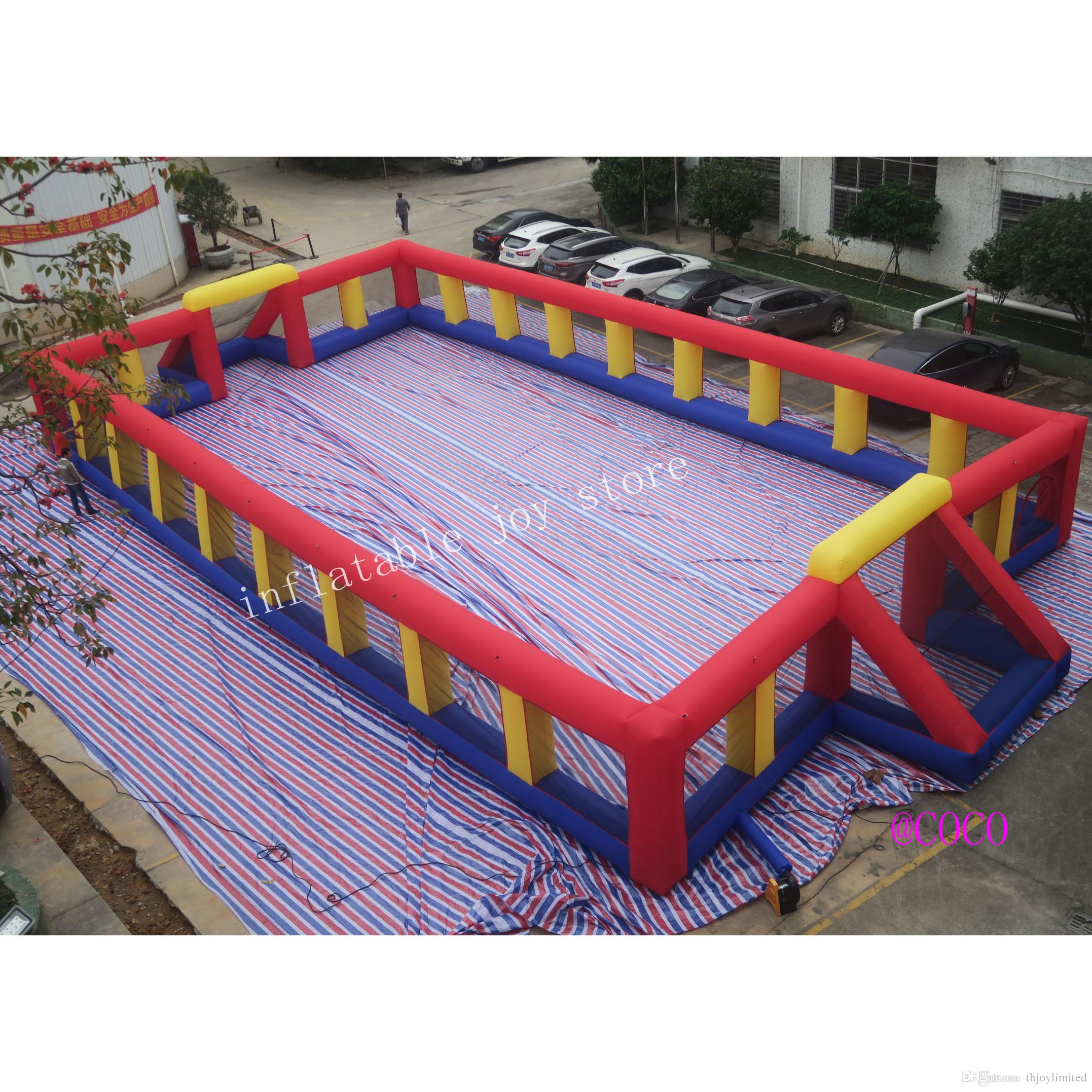 Portable inflatable Soccer bubble bumper ball Field/Inflatable Football Pitch/Inflatable Football Court