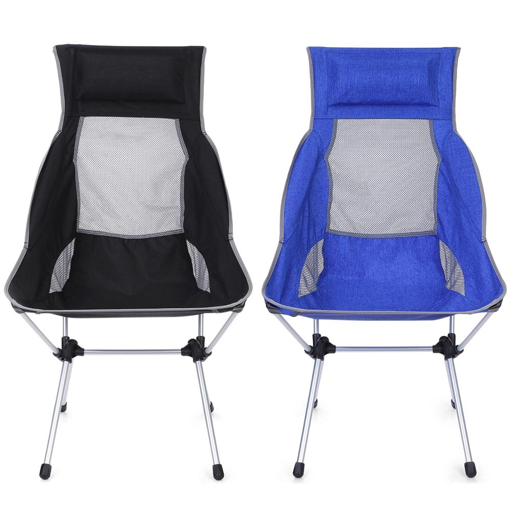 2406f7e25d Black Outdoor Ultra-light Aluminum Alloy Folding Recliner Camping Chair  portable folding armchair for easy ejection assembly