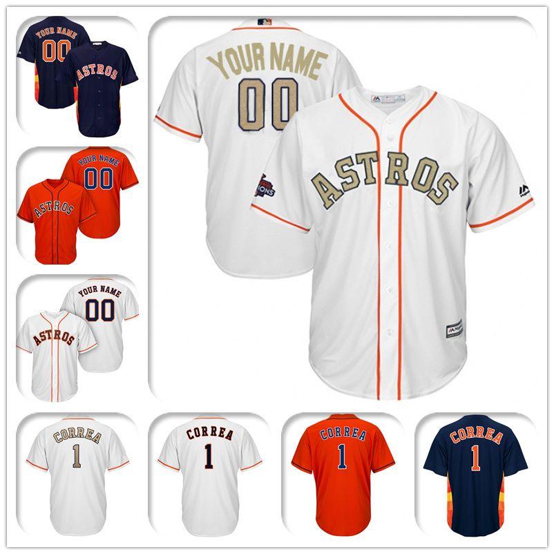 816c33bc0 Houston Astros Majestic Cool Base Custom Gold Program Baseball ...