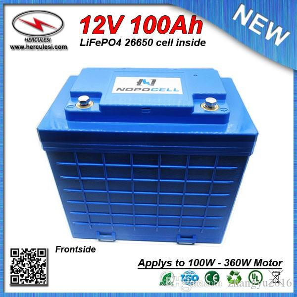 Big Capacity LiFePO4 12V 100Ah Deep Cycle Lithium ion battery for EV HEV  Car scooter UPS Streetlamp solar system FREE SHIPPING