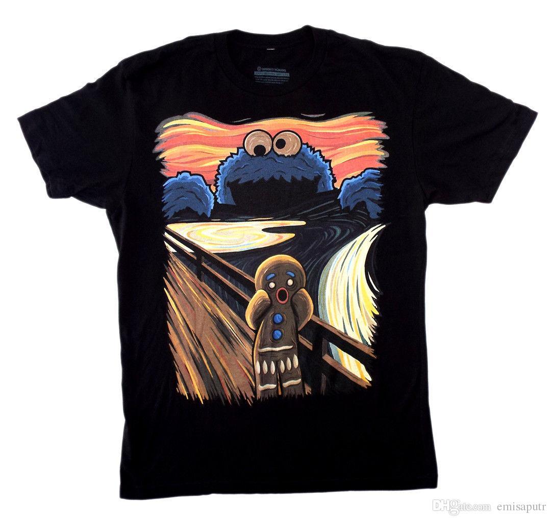 22415d236c10 The Cookie Monster The Scream T Shirt M Design By Humans NEW! Shop Online T  Shirts T Shirt From Emisaputr, $10.78| DHgate.Com
