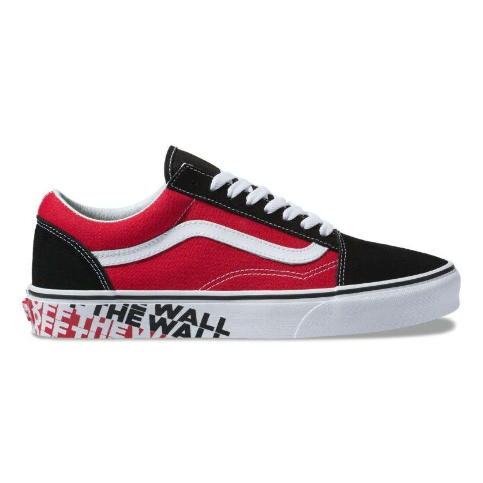 f426f0e5b675 New Vans Old Skool OTW Sidewall Black Racing Red Skate Shoes Unisex ...