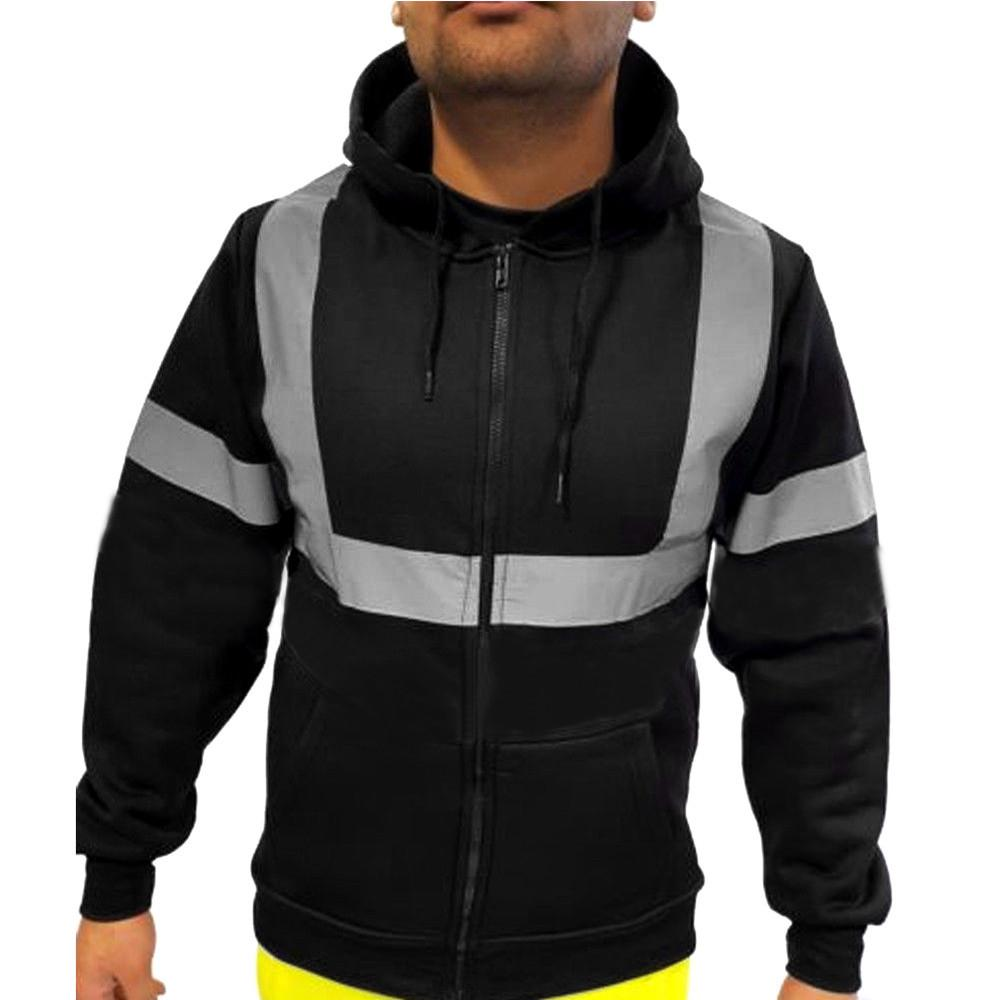 Compre FeiTong Chaqueta Hombres Abrigo De Invierno Ropa Para Hombre Trabajo  En El Trabajo Alta Visibilidad Manga Larga Tops Con Capucha Blusa Abrigo ... 0eb45d45a47