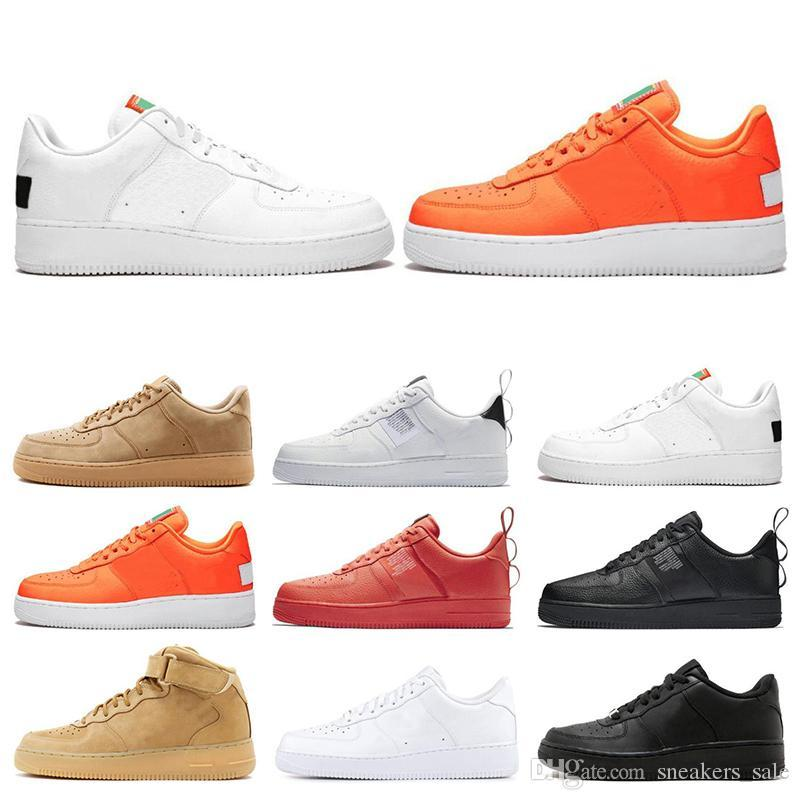 Hot Sale 1 Utility Classic Black White Dunk Men Women Running Shoes Sports Skateboarding High Low Cut Wheat Trainers Sneakers EUR 36-45
