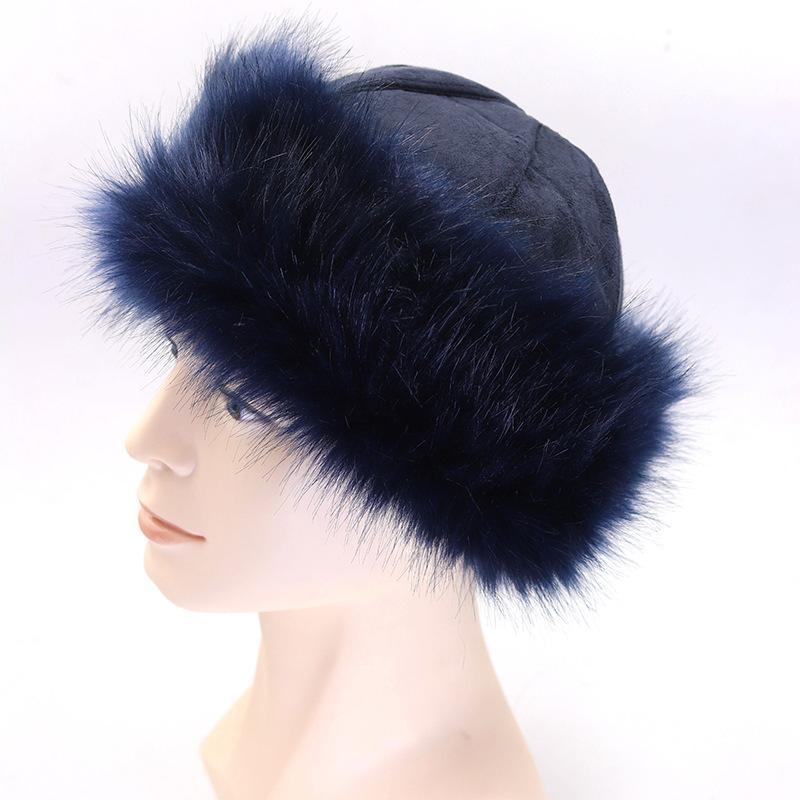 d2f80ce8f98221 New Women Men Russian Ushanka Faux Fox Fur Hat Lady Soft Thick Winter Warm  Cap Fluffy Suede Ski Snow Cap Mongolia Headwear Hats C18112301 Crochet  Beanie ...