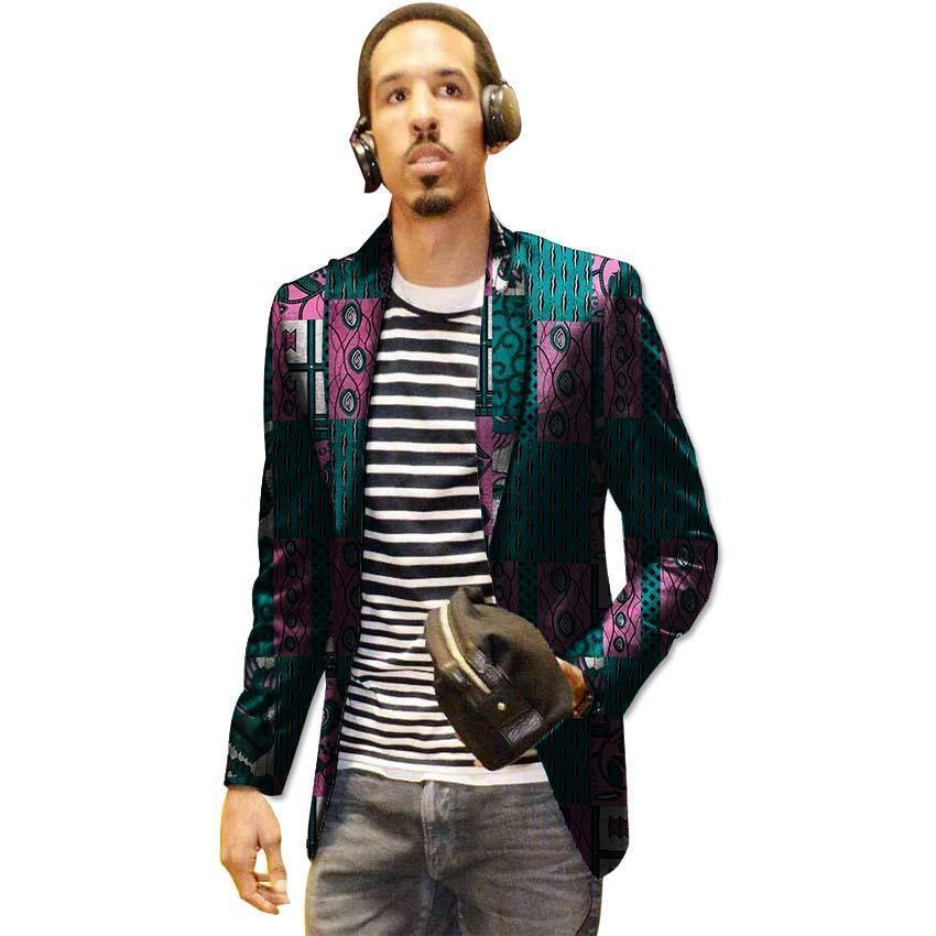 7cd559e04a Compre Pop 2019 Casual Homens Ankara Blazer Lazer Dashiki Jaqueta De  Impressão Terno Personalizado Para Africano Partido   Casamento Formal Do  Homem Roupa ...