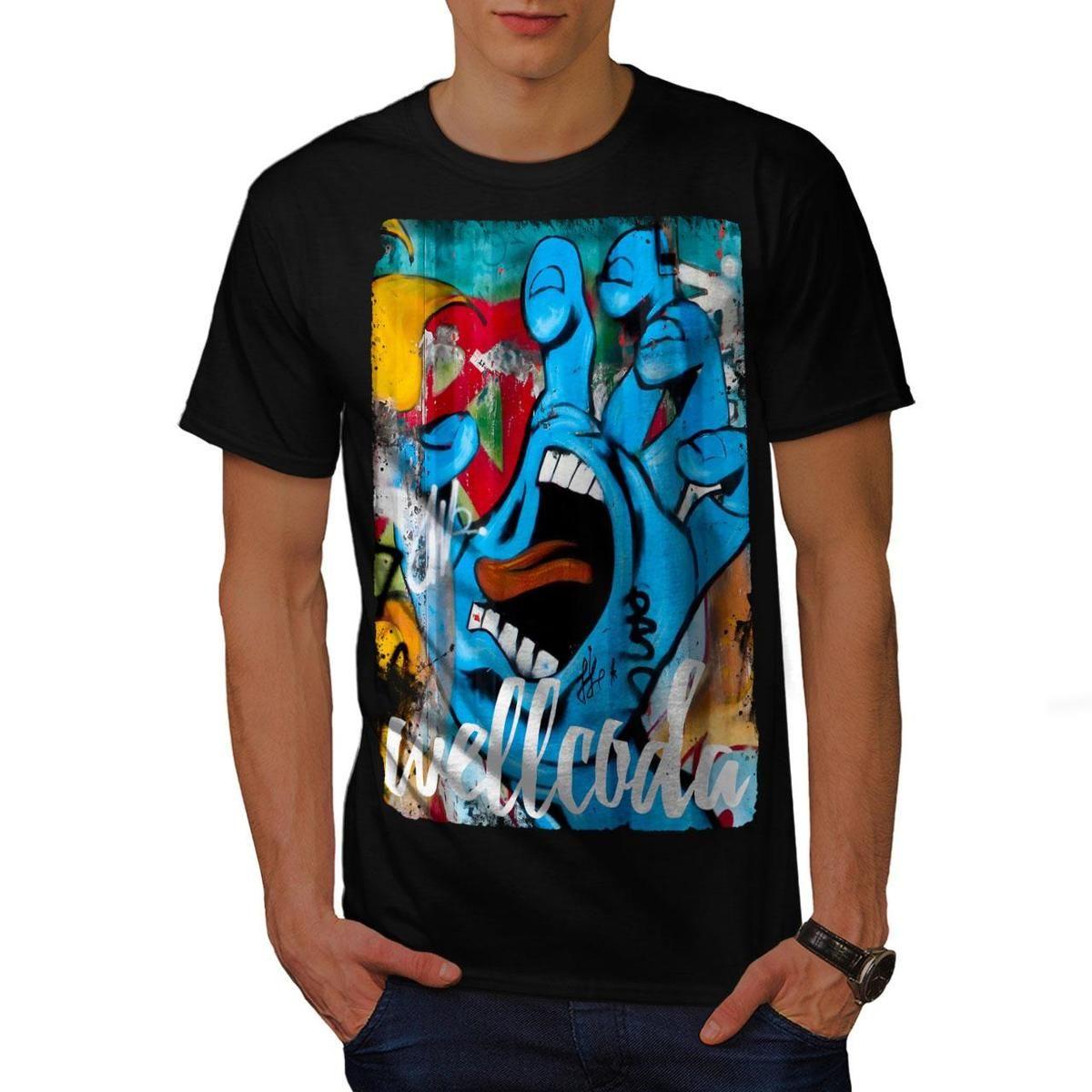Wellcoda graffiti design mens t shirt street graphic design printed tee printed summer style tees male harajuku top fitness shirt online cartoon t shirts