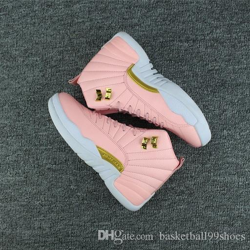 women shoes new Free Shipping XII GS Pink Lemonade Basketball Shoes Womens 12s Valentine's day taxi XII Sneakers Size us 5-8.5