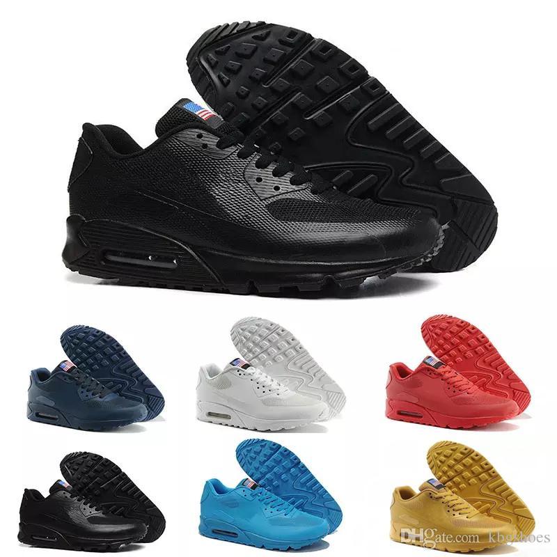 Chaussures de sport pour hommes Nike Air Max 90 argent Hyp