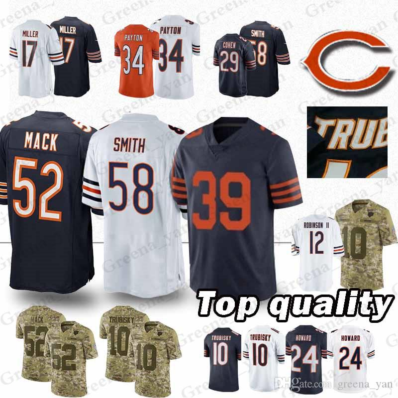 899daea136e High-quality Chicago Bears Jerseys 39 EDDIE JACKSON 58 Roquan Smith ...