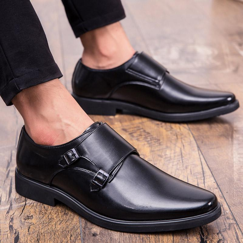 91315be47358 New Men Dress Shoes Formal Wedding Leather Shoes Retro Brogue Business  Office Men S Flats Oxfords For Men Plus Sizes 38 48 Womens Loafers Mens  Leather Boots ...
