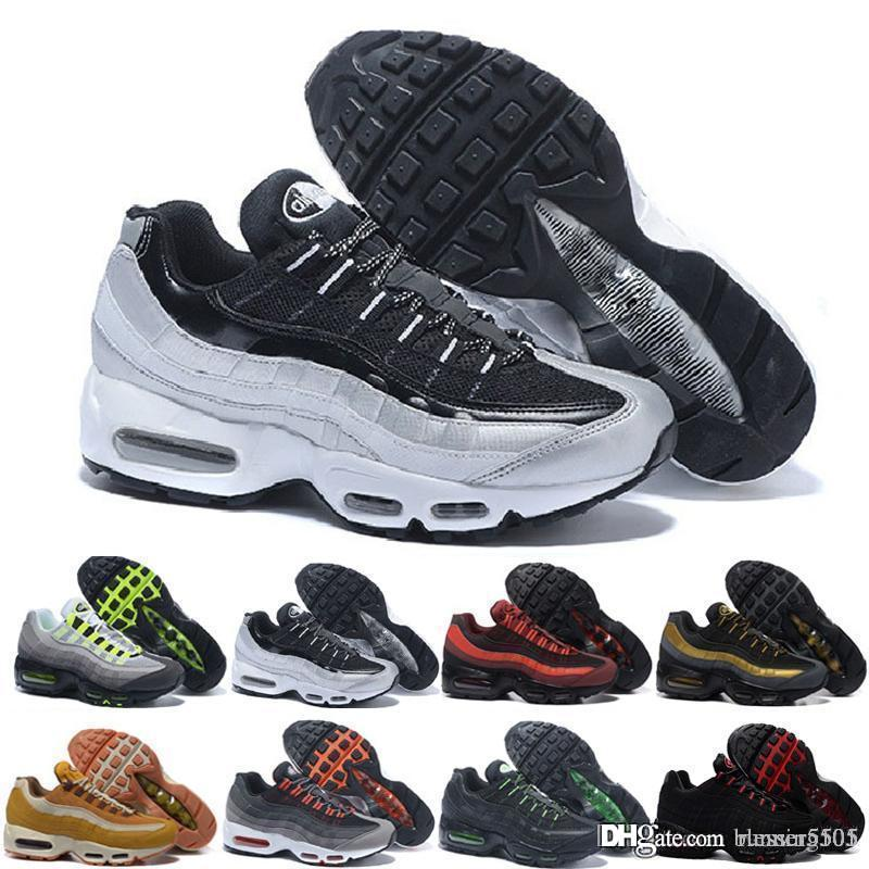 nike air max 95 airmax 2018 chaussures New Mens Womens Classic Black Red White Sports Trainer superficie Cojín transpirable zapatillas deportivas zapatillas 36-46