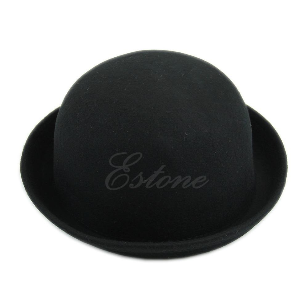 57469284152bc Vintage Vogue Ladies Women Men Unisex Vintage Wool Bowler Derby Hat Cap  D19011102 Fedoras Beanie Hats From Yizhan02