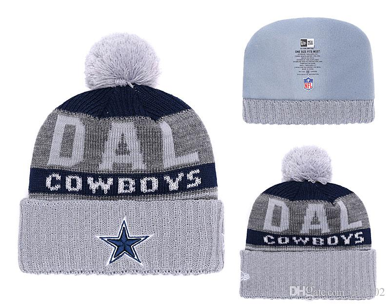 9b388877 Men s Dallas Cowboys New Navy 2018 Sideline Cold Weather Official Sport TD  Knit Hat
