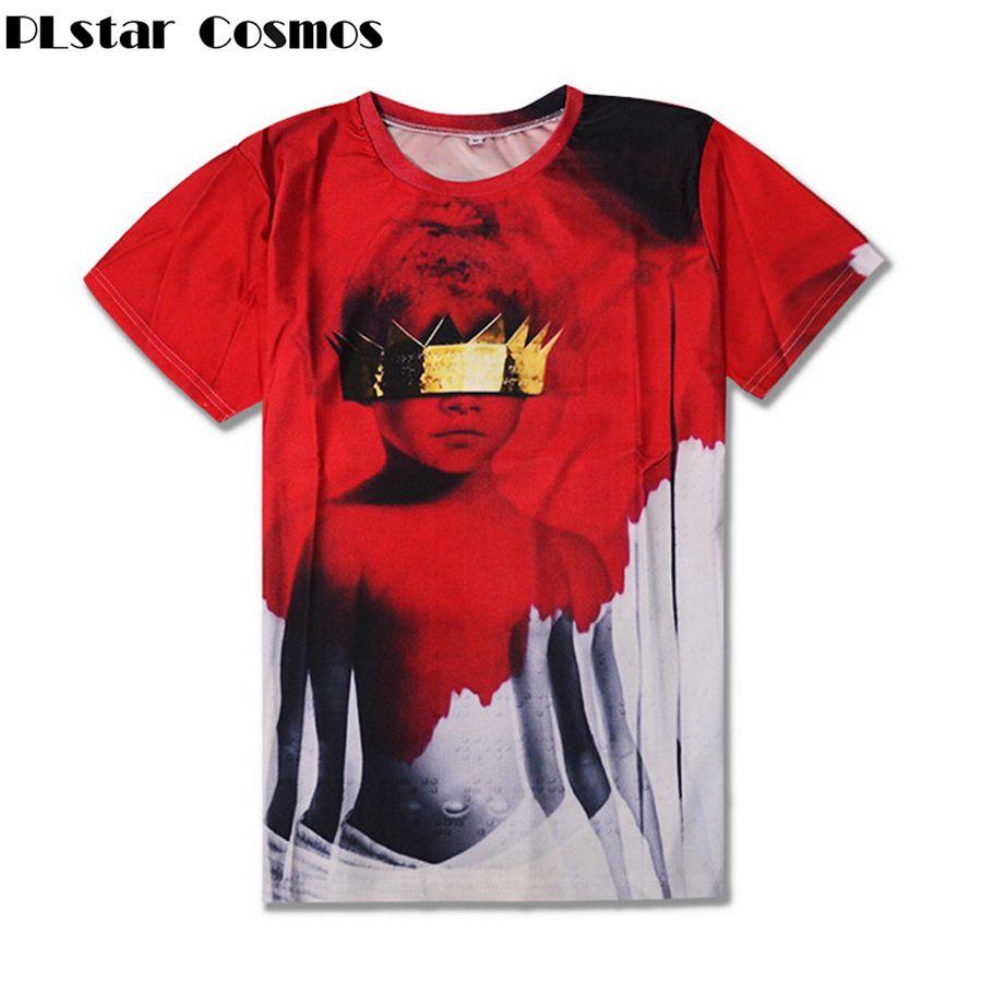 Plstar Cosmos New Women Men T-shirts Rihanna Anti Sublimation 3d Print  T-shirt Summer Style Casual T Shirt Free Shipping C19041501