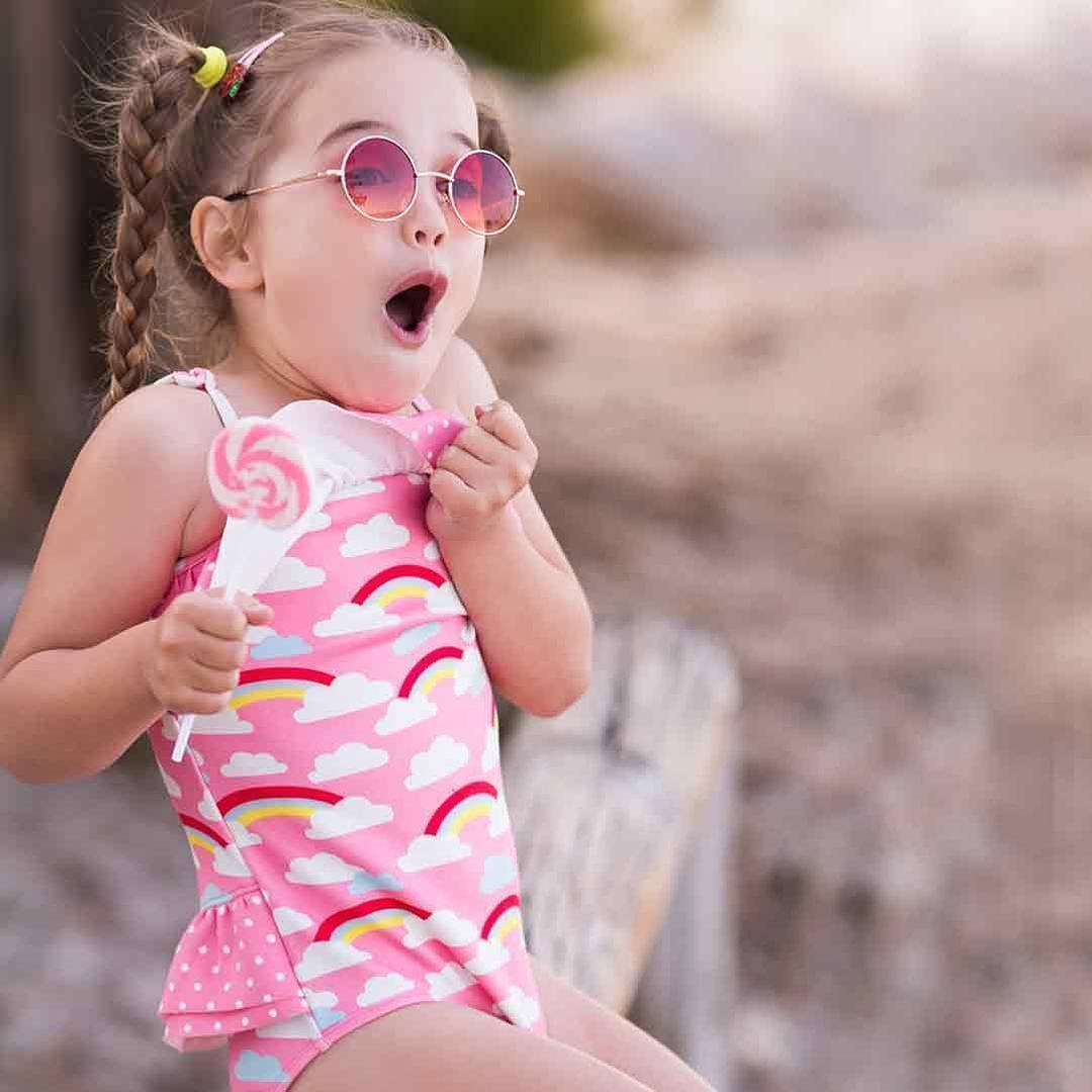 d227c3b67 2019 Girl S Swimsuit For Children Swimwear Rainbow Swimming Suit ...