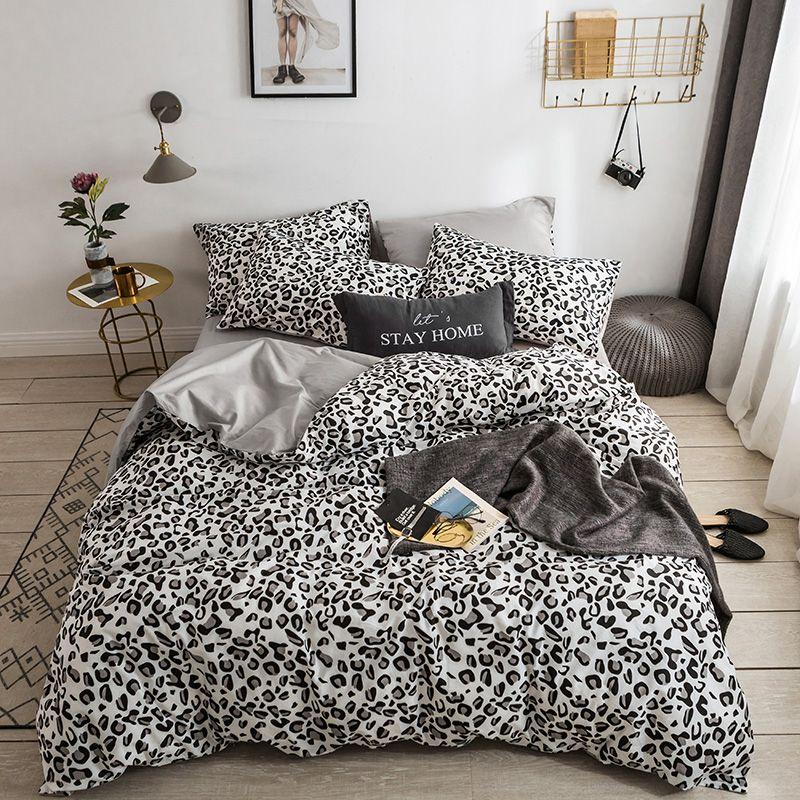 Comforter Bedding Set Luxury Panther Leopard Print Bed Set Cotton ...