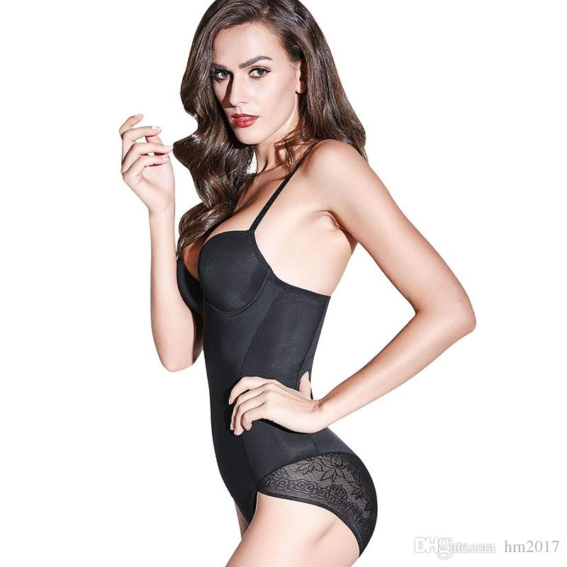 488eb5547f64 2019 Women Sexy Lace Bodysuit Slimming Body Shaper Push Up Bra Tummy  Control Abdomen Fat Adjustable Shaperwear From Hm2017, $9.12 | DHgate.Com
