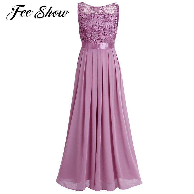 7e8ffd6ed6665 Women Sleeveless Maxi Chiffon Embroidered Dress Vestido De Festa Longo  Formal Long Dress for Wedding Party Women Dress Prom Gown T190610