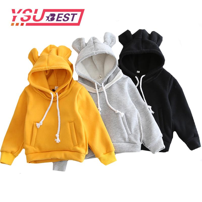 5bf087a0b9ab 2018 New Children Hooded Sweatshirt Boys Cute Bear Ears Animal ...