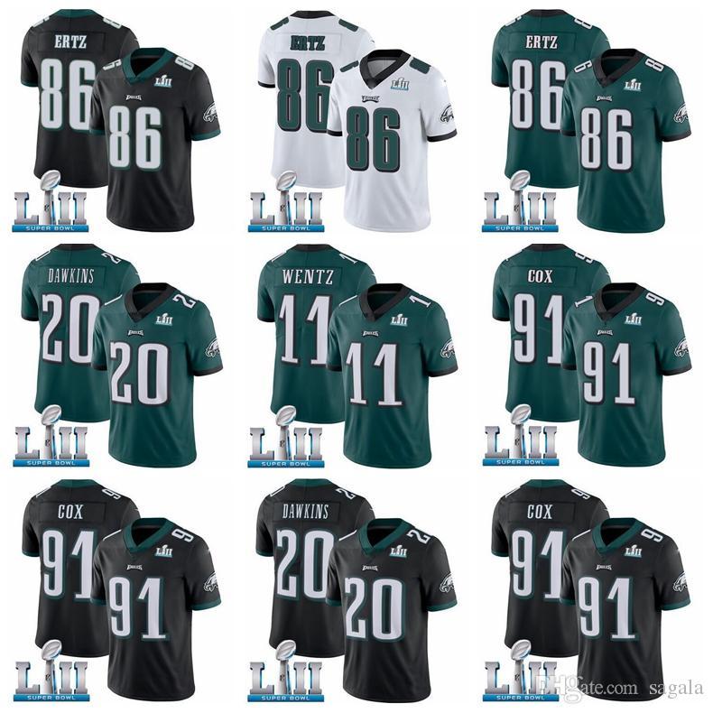 2019 Super Jersey Bowl 9 Nick Foles 11 Carson Wentz Philadelphia Eagle 17  Alshon Jeffery 20 Brian Dawkins 91 Cox American Football Jerseys From ... f168be8a0