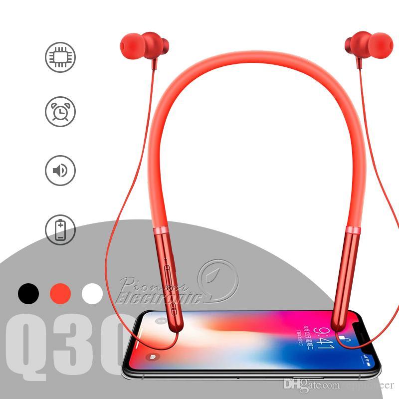 7249002d1eb Argentina Celulares Q30 Auriculares Bluetooth Auriculares Auriculares  Estéreo Inalámbricos Auriculares Deportivos Para IPhone X XS Max Samsung  S10 S9 S8 ...