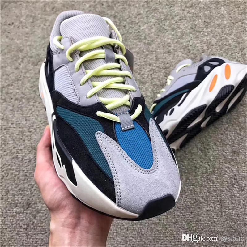 best service 96d35 52955 2018 Authentic Originals 700 Kanye West Wave Runner 700 Solid Grey Inertia  Mauve Running Shoes Man Woman Sneakers With Box B75571
