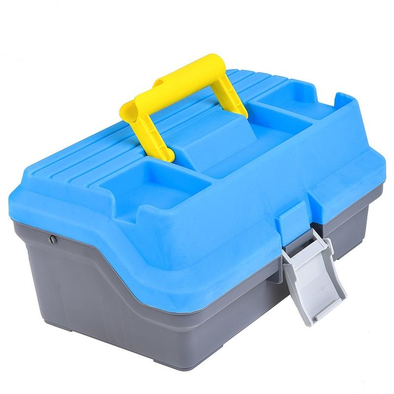 Library Fishing Suitcase Multi Layer Bait Box Outdoor Camping Toolbox Blue Big Space Fishings Accessories New Arrival 33lo C1