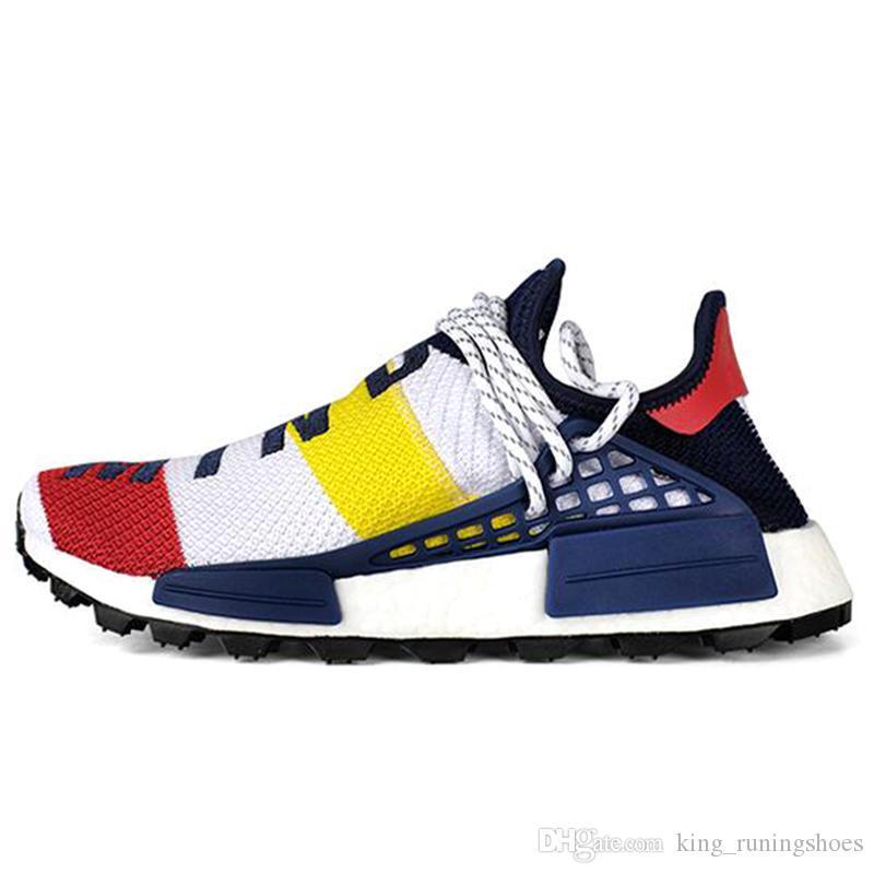 super popular 421ee 8a1b3 With box Human Race Hu trail Pharrell Williams BBC Yellow Black Nerd Sports  Running Shoes Designer Sneakers Men Trainers Women Races Runner