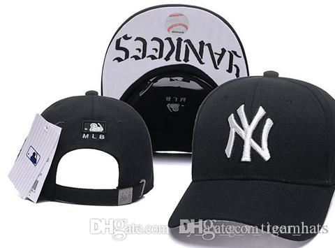 73b39fe030e NY Baseball Hats Men S Team Logo Embroidered Team Logo Baseball Caps Brands New  York Flat Bill Sport Adjustable Hat Bones Ny Caps Ball Cap From ...