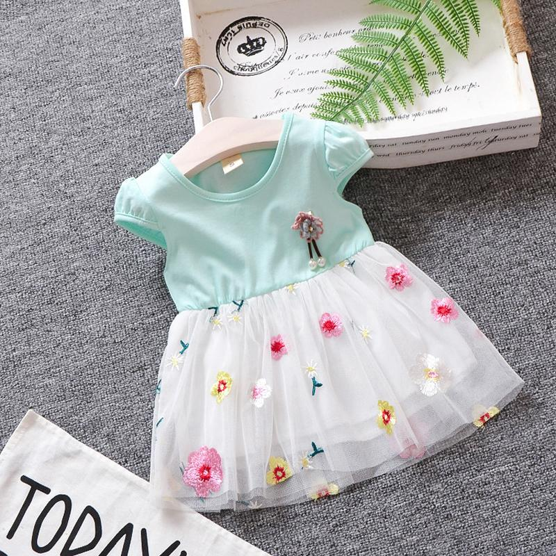 41de188014d3 2019 Good Quality 0 2Y Baby Girl Dress Summer Cute Embroidery ...
