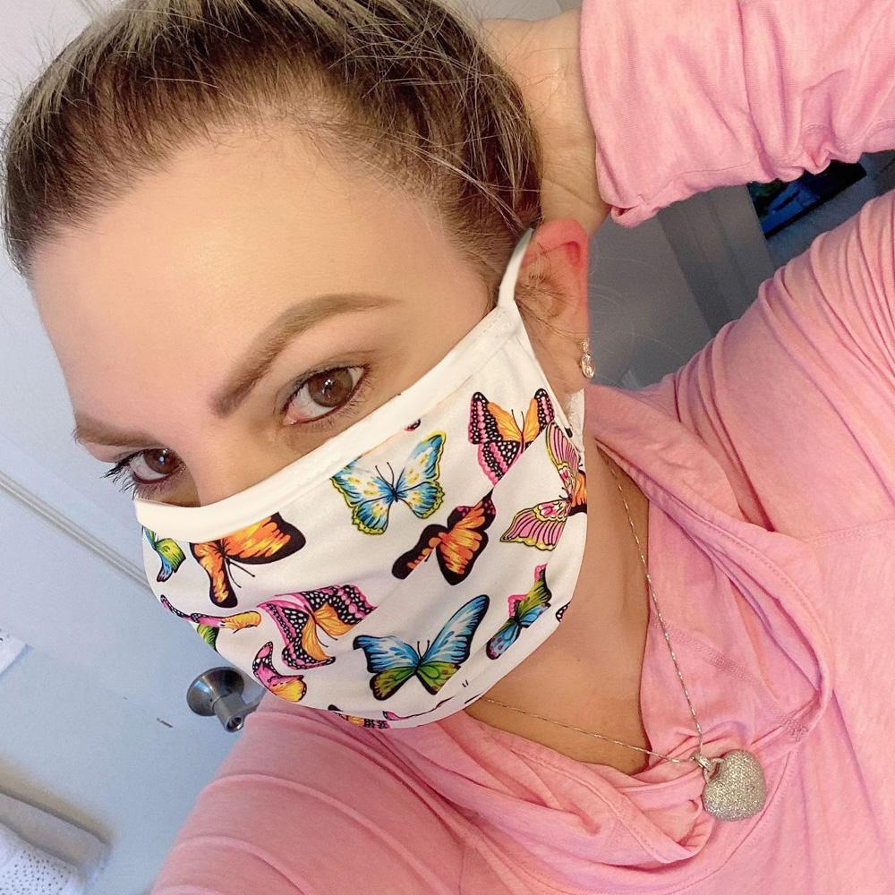 مصمم قناع الوجه فاخرة قابل للغسل الوجه مكافحة الغبار غطاء تنفس الغبار ركوب الخيل الرياضة المضادة للبكتيريا أقنعة قابلة لإعادة الاستخدام الفم الجليد الحرير DHL