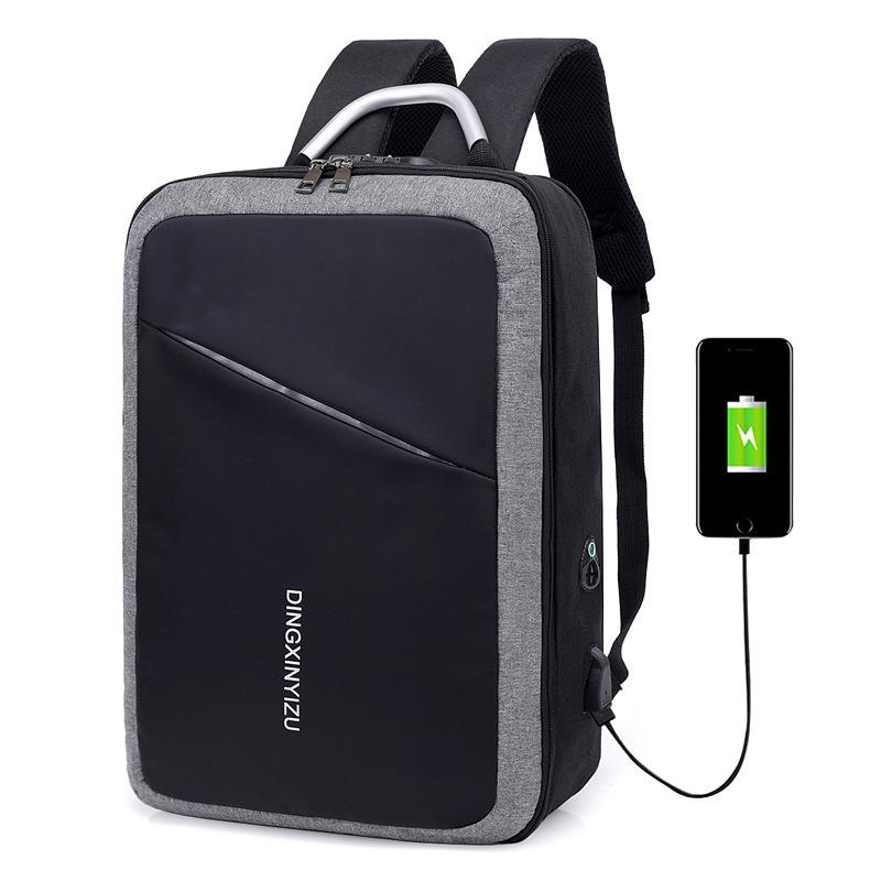 0d911fa6d10389 2019 15 15.6 15.4 Inch USB Interface Password Lock Anti Theft Waterproof  Nylon Notebook Laptop Backpack Bags Case For Men Women From Cupkiko, ...
