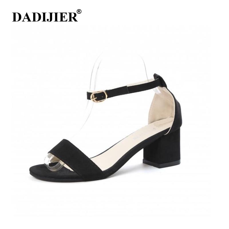 ... Dress Shoes DADIJIER Womens Sandali Estate 2019 Donne Sexy Pompe Open  Toe Fibbia Tacchi Spessi Sandali Donne ST252 A  19.15 Dal Bags9  9497c53672f