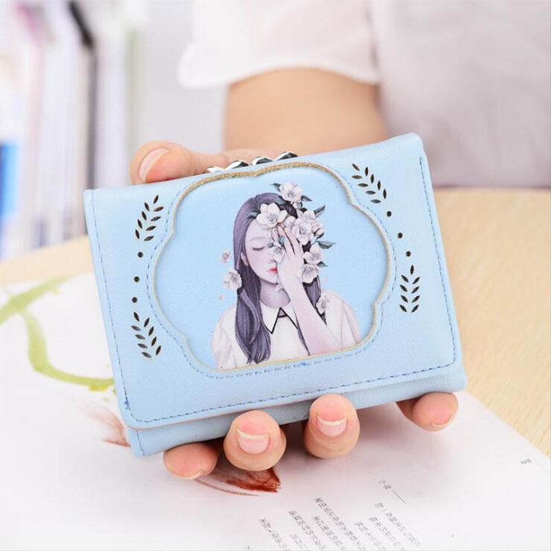 ebbfd9b33 Compre Mini Billetera Corta Monedero De La Mujer Monedero Plegable Monedero  Embrague Pu Titular De La Tarjeta De Cuero Ladys Monederos Mujeres Estilo  Retro ...