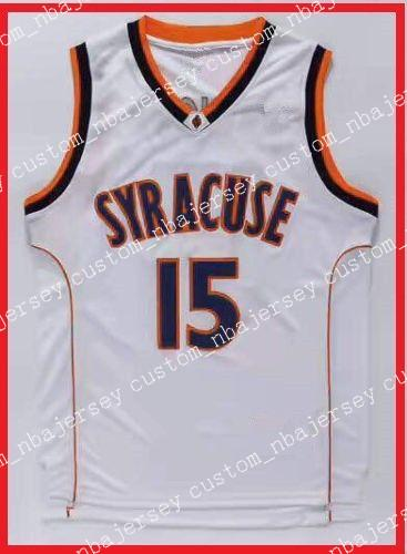 9179d7b5624 2019 Cheap Wholesale Carmelo Anthony   15 NCAA Syracuse College Basketball  Jersey White S 2XL High Quality From Custom nbajersey