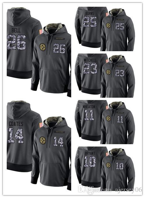 on sale d1f65 7618d 2018 new clothing Men s 02 Steelers Gray Admiral Sweater Hoodie Outdoor  Clothing Jacket Sweatshir
