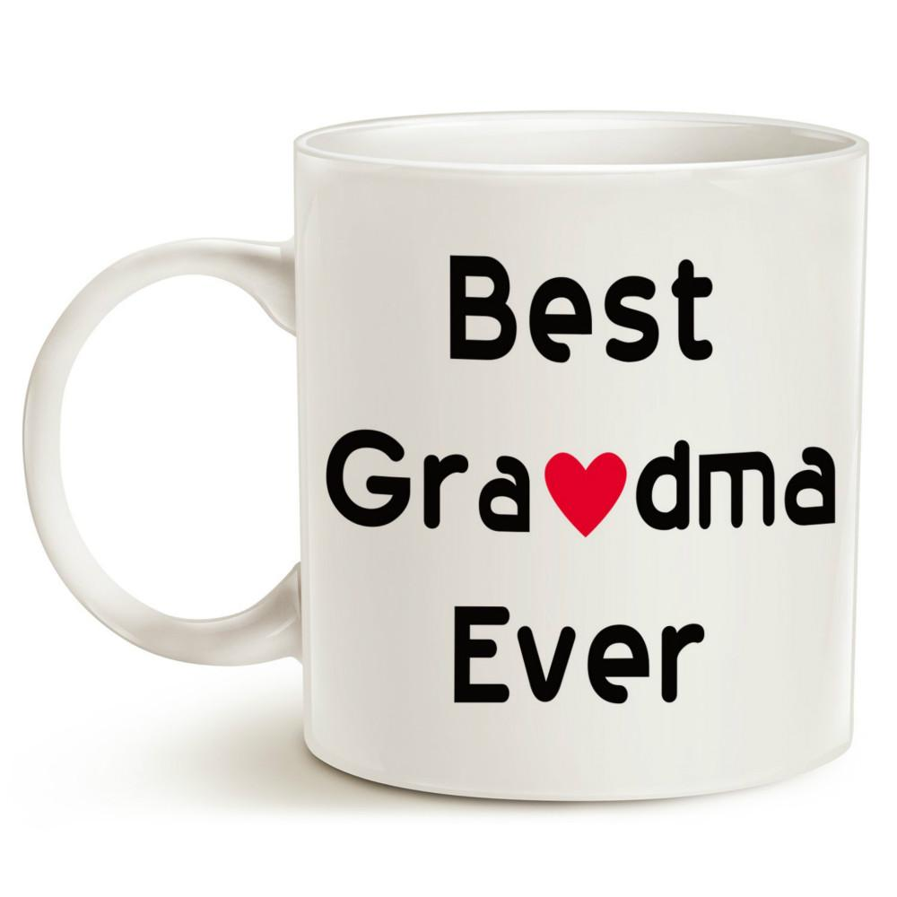 Christmas Gifts Best Grandma Ever Coffee Mug Unique Or Birthday Idea For Grandmother Grandmama Porcelain Cup Thermal Mugs Thin