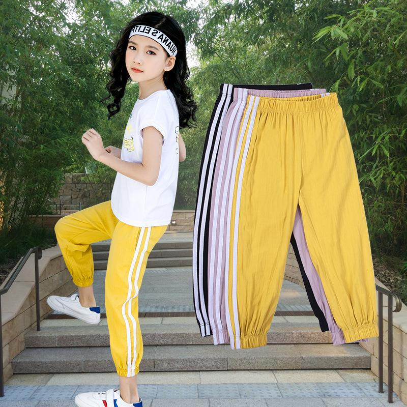 Children's anti-mosquito pants thin section spring and summer big children's bloomers air conditioning pants girls casual pants loose