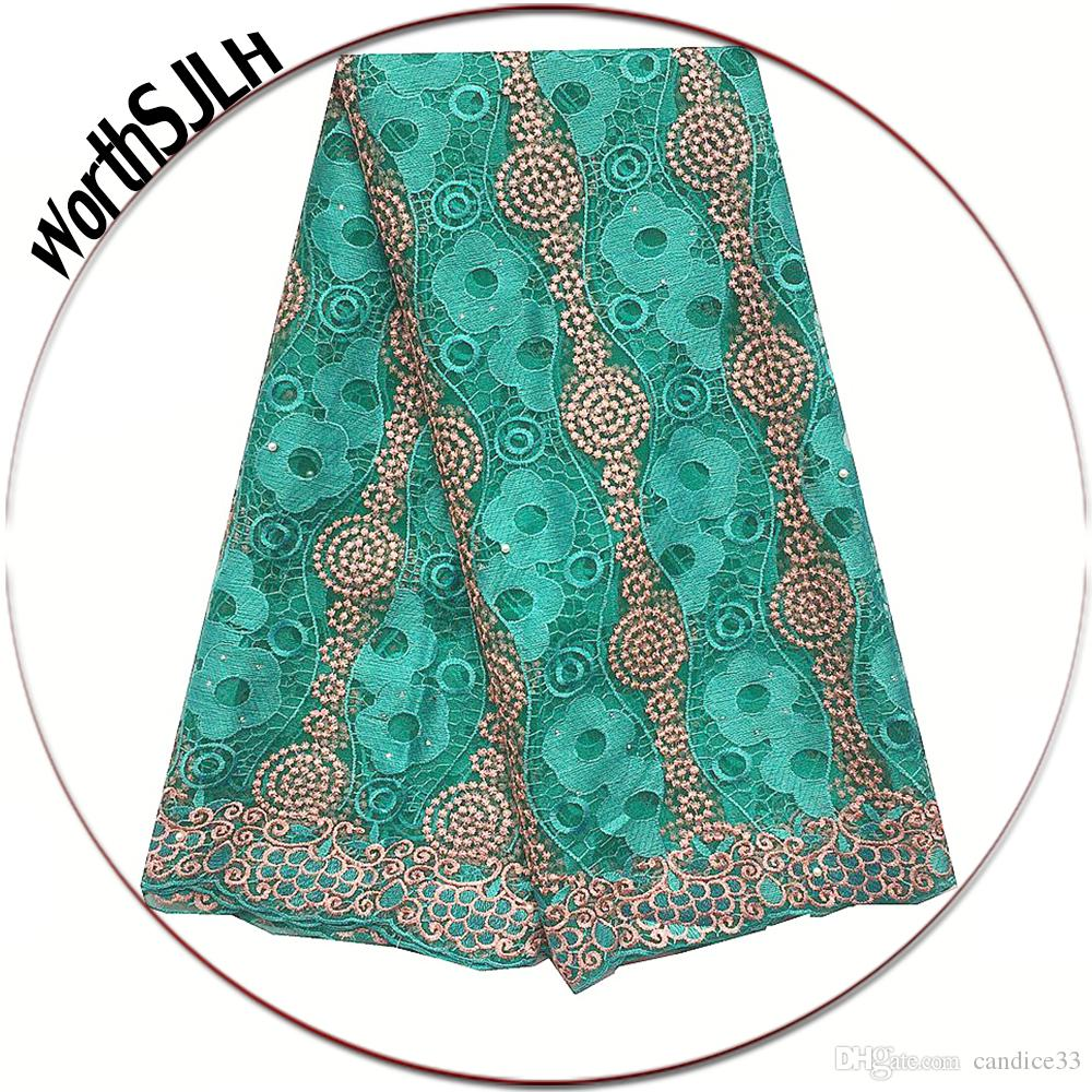 3d Nigerian Lace Fabric 2019 High Quality Latest African Laces Embroidered French Tulle Lace Fabric Beads Dubai Lace Fabric Home