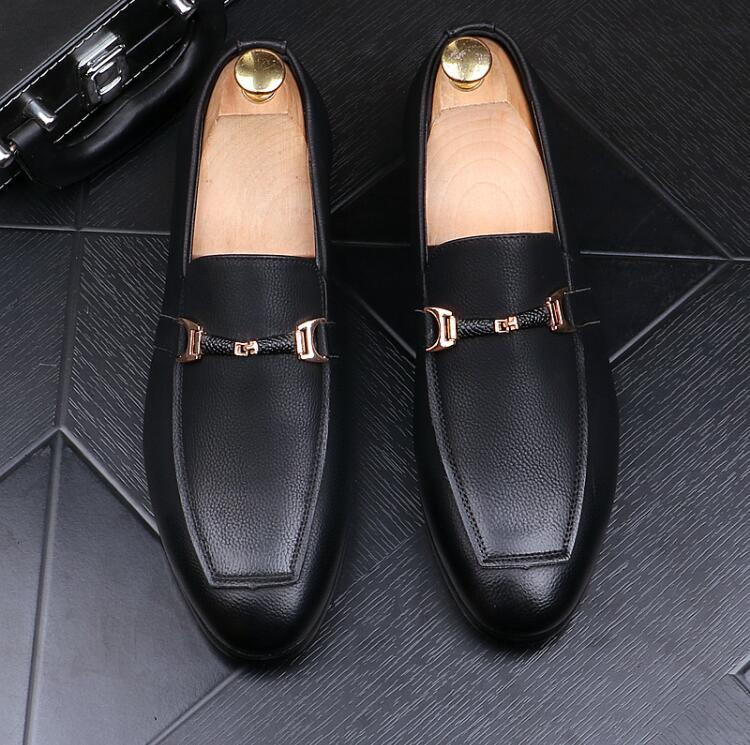 Men's leather loafers low top shoes, breathable PU soft sole brand satin flat shoes sell sneakers, fashionable loafers