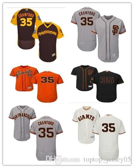 brand new 6b366 ca2e1 2018 San Francisco Giants Jerseys #35 Crawford Jerseys  men#WOMEN#YOUTH#Men's Baseball Jersey Majestic Stitched Professional  sportswear