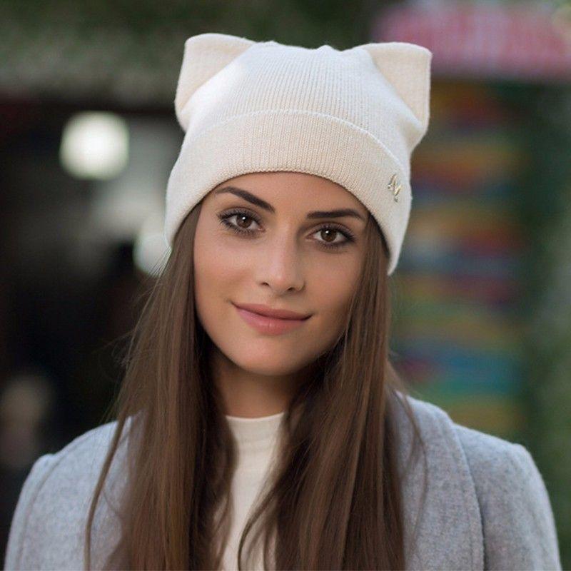 BEFORW 2018 Autumn New Women Cute Hat Female Winter Warm Cap Knitted Girl  Cat Ears Hats Woman Casual Bonnet Femme Slouch Beanie Ski Hats From  Clintcapela 6d5db2c6f560