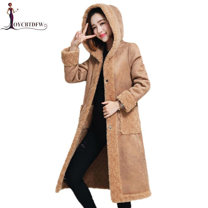 87b71137d 2019 Cashmere Coat Winter Women Long Sheep Velvet Jacket Nice New ...
