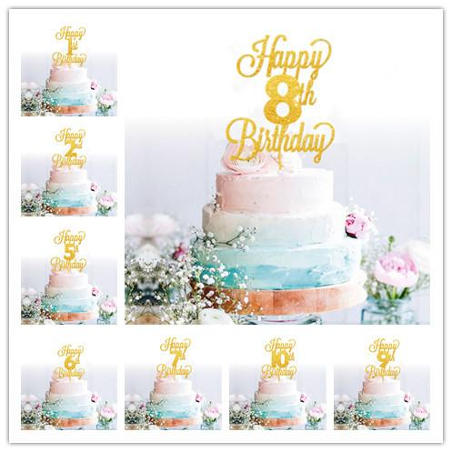 Großhandel Baby Kids Geburtstagstorte Topper Alter Cake Topper Baby