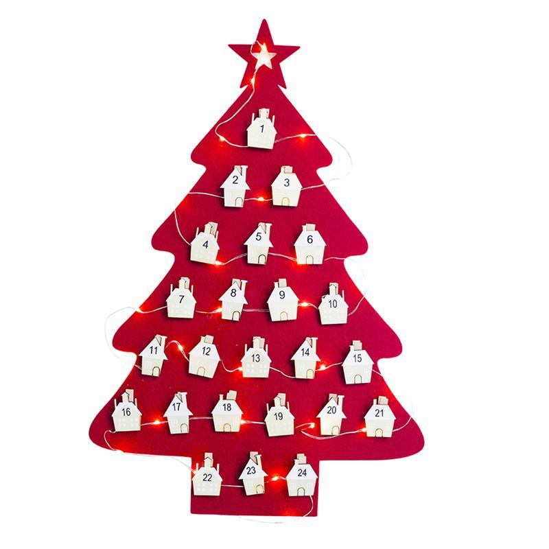 1570f6e5d874 Compre Calendario Navideño Colgante Cuenta Regresiva Para Decoraciones De  Adornos Navideños De Árboles De Navidad Para Artículos Para Fiestas En Casa  A ...