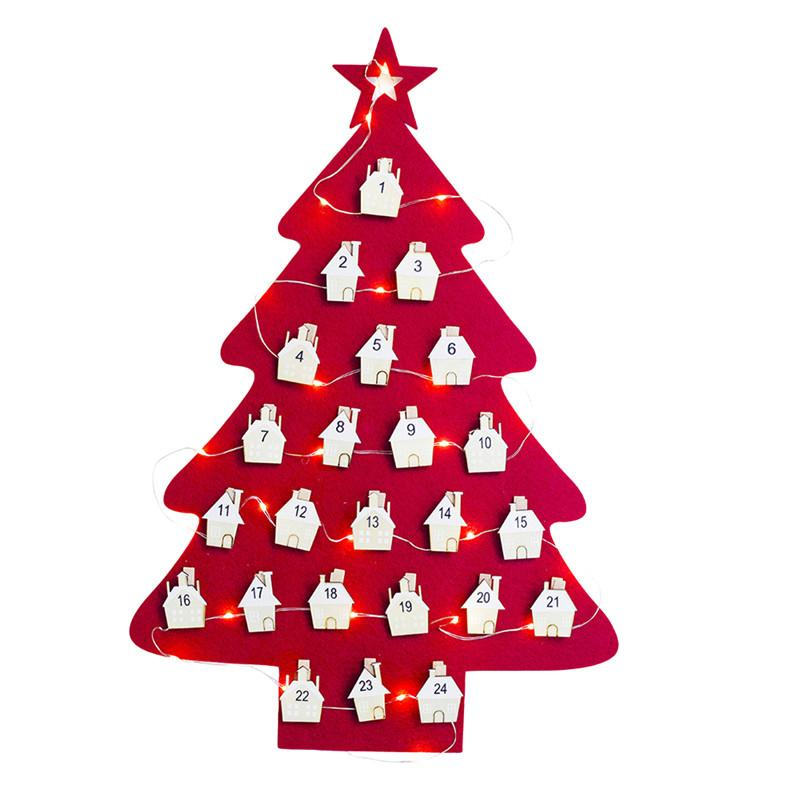 Calendario Countdown.Hanging Christmas Advent Calendar Countdown To Christmas Tree Xmas Ornament Decorations For Home Party Supplies
