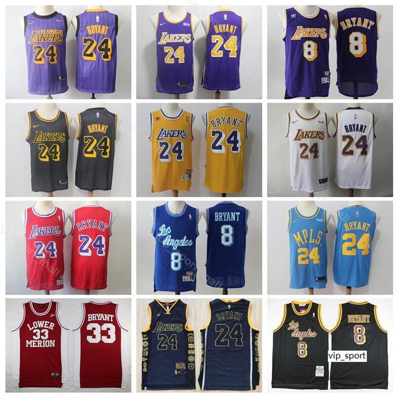 reputable site 63c07 3befe Los Angeles Basketball Kobe Bryant Jersey Edition City High School Lower  Merion Hightower Crenshaw Yellow Purple White Blue Shirts Uniform